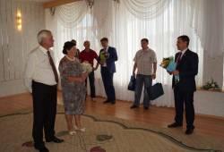 Сергей Жижин поздравил семью Алексея и Татьяны Хижняковых с золотой свадьбой