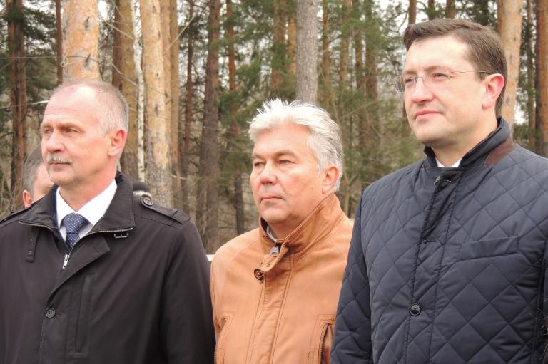 Врио губернатора Глеб Никитин в Сарове