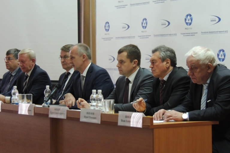 Сергей Жижин стал участником итоговой пресс-конференции руководства ядерного центра