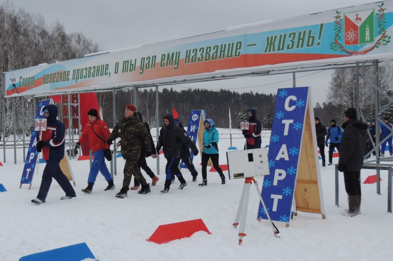 Открытие чемпионата по лыжным гонкам