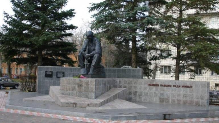 Скульптурный памятник в честь жителей города, погибших при выполнении интернационального долга в вооруженных конфликтах на территории России и в других странах.