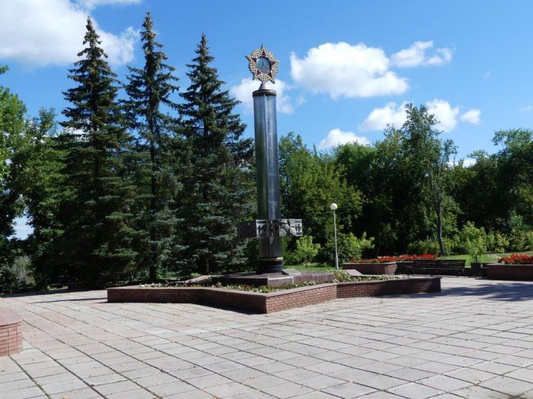 Памятник в честь 40-летия Победы в Великой Отечественной войне 1941-1945 гг.