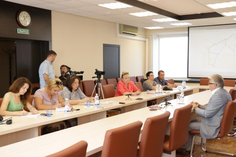 Глава города встретился с журналистами