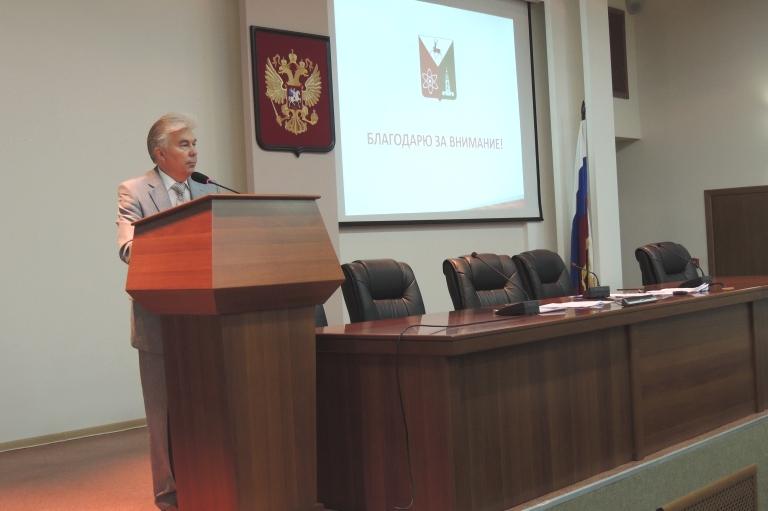 Александр Тихонов отчитался перед депутатами о работе за минувший год