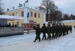 Торжественный митинг в войсковой части