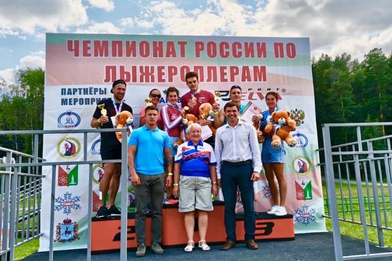 Чемпионат России по лыжероллерам, второй день, вручение наград
